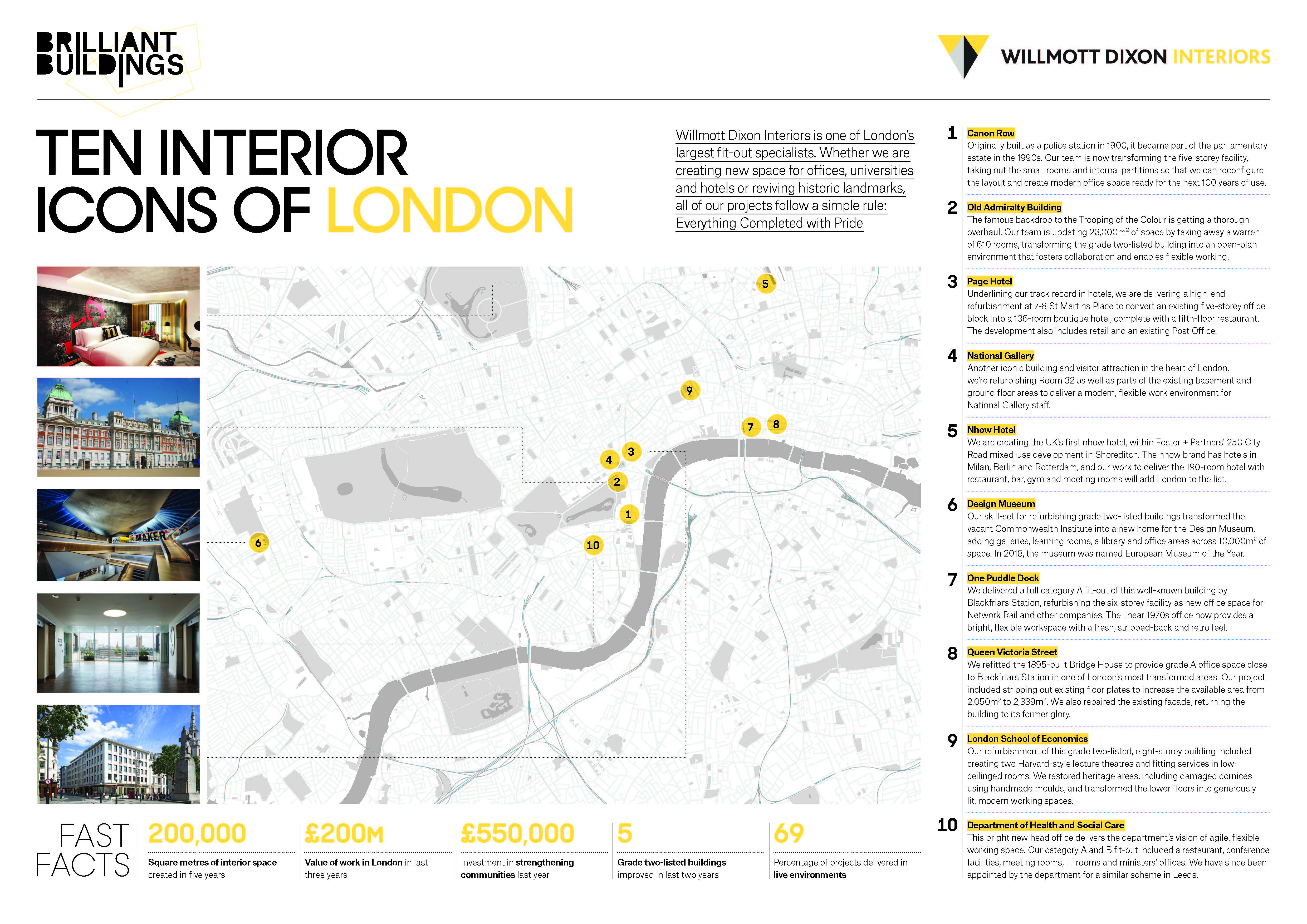 Interiors London Map