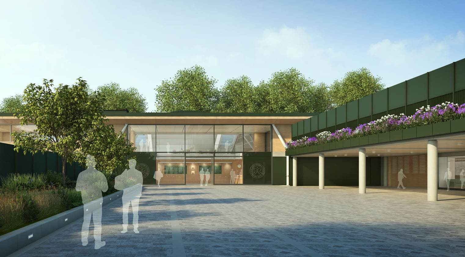 All England Lawn Tennis Club new member's complex at Wimbledon entrance.jpg