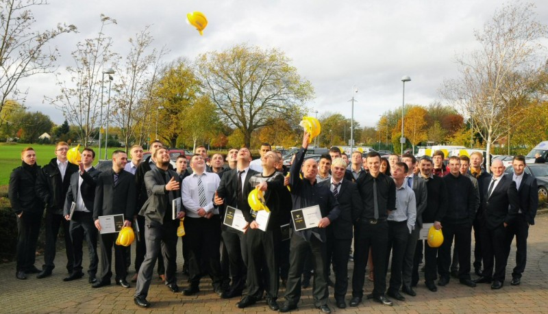 Apprentices celebrate at Willmott Dixon's Got Talent