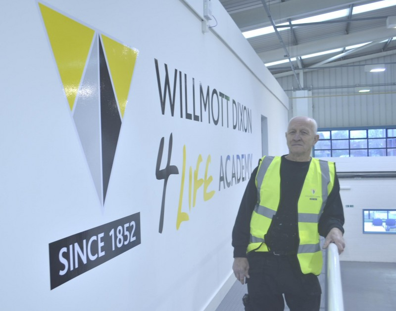 Fred Mullis from Great Barr was the 2000th person to undertake training at Willmott Dixon's 4Life Academy this year, after he completed a health and safety course