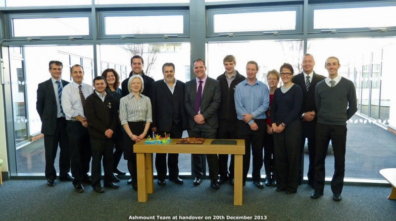 The team celebrate the early handover of Ashmount in Loughborough