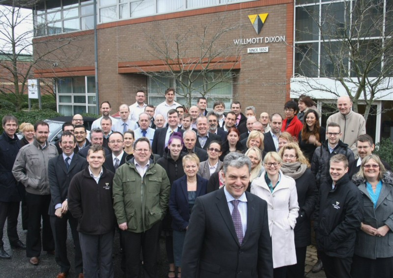 The Willmott Dixon team outside their new Hitchin office