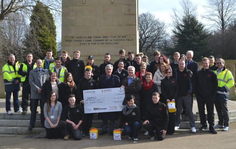 Willmott Dixon Partnerships' force of apprentices are raising money for Dekamile to celebrate National Apprenticeship Week (3-7 March)